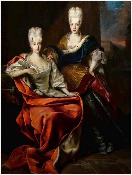 The Princesses Marie Elizabeth (1683-1744) and Marie Antonia (1687-1750)