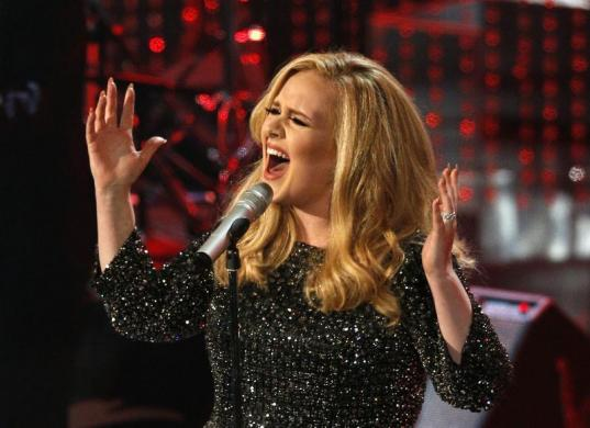 British singer Adele performs the song Skyfall
