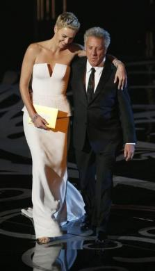 Charlize Theron and Dustin Hoffman