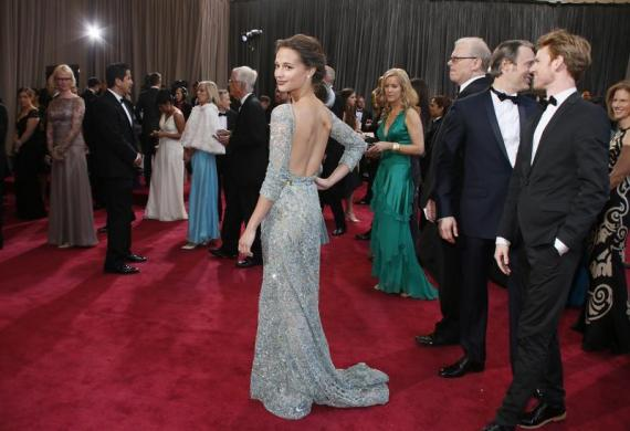 Swedish actress Alicia Vikander, of the best foreign language nominated Danish film A Royal Affair