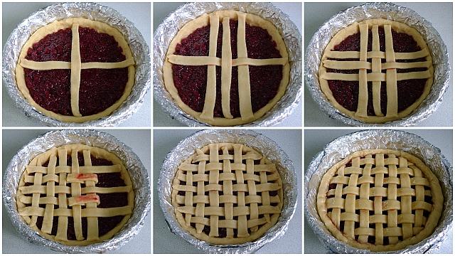Как сделать решётку из теста для пирога