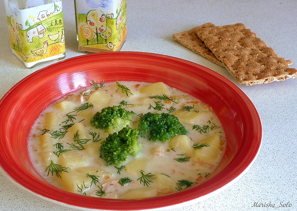 Сырный суп с брокколи с фото