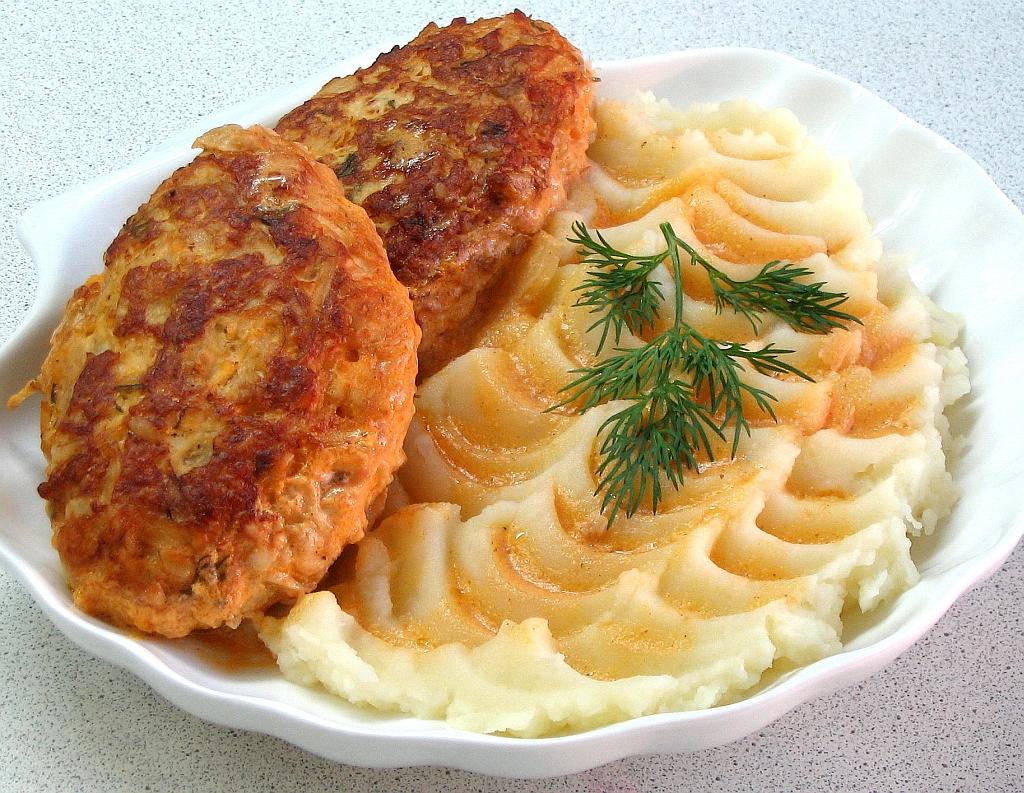 гарнир к мятой картошки