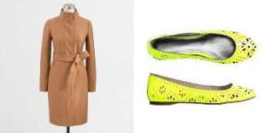 пальто и балетки sm