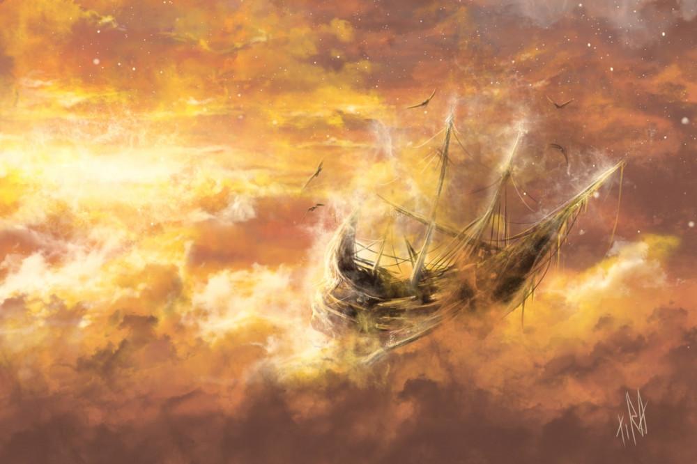 корабли в небе картинки выполняем