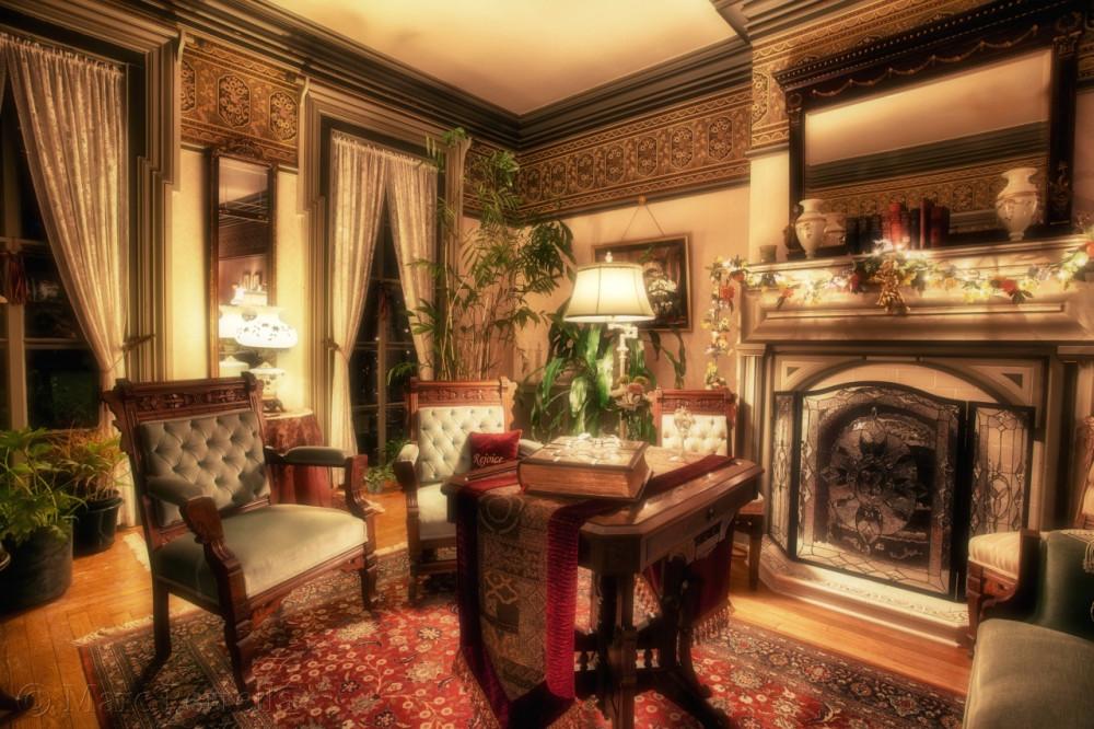 Дизайн интерьера в стиле старины гостиной