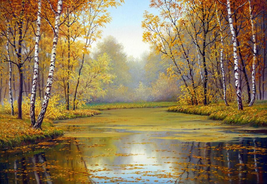 открытки с осенним пейзажем в русском бывшая
