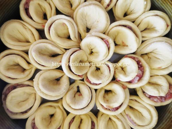 Пирог хризантема с мясом пошаговый рецепт с фото