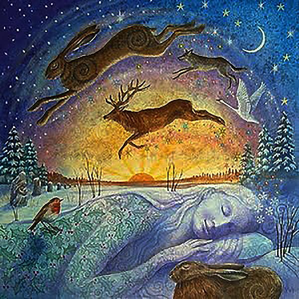 Открытки, зимнее солнцестояние открытки