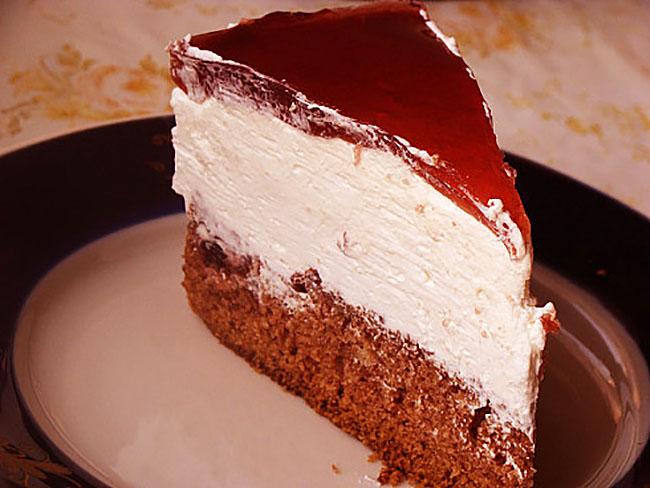 Торт бисквитно творожный с фото