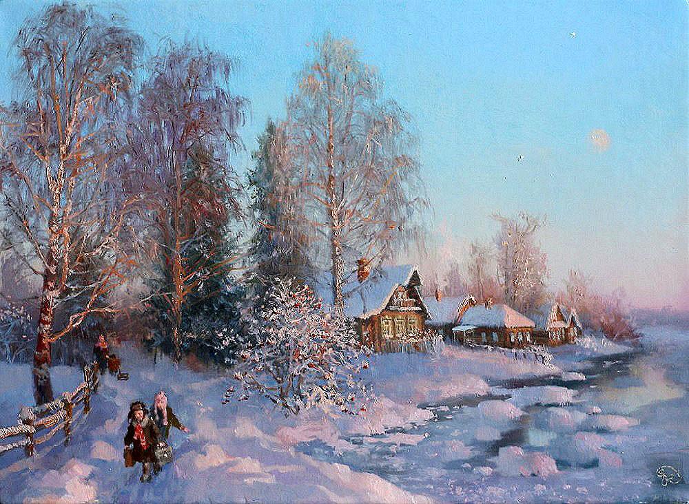 видео пейзаж зима русских художников фото с названиями рукодельницы