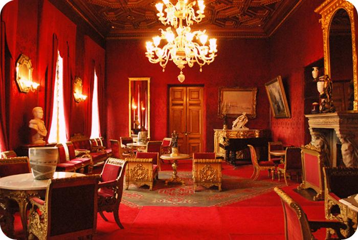 Владимирский дворец Малиновая гостиная