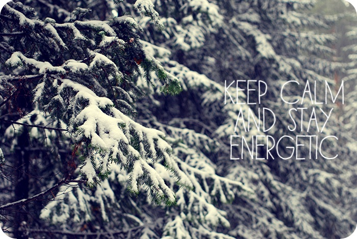 stay energetic
