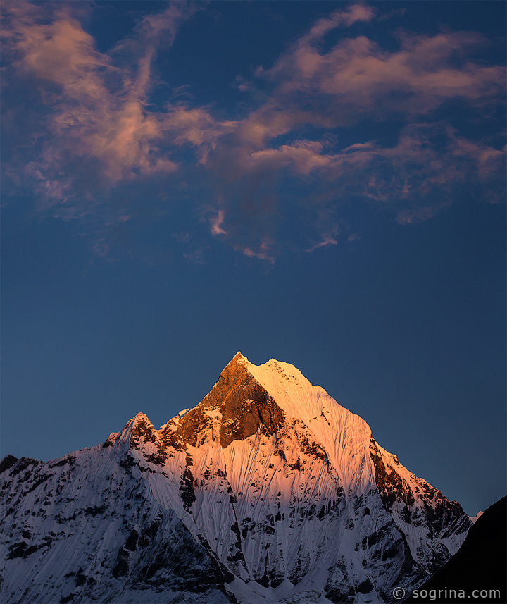 16 Machapuchare sunset by Sogrina