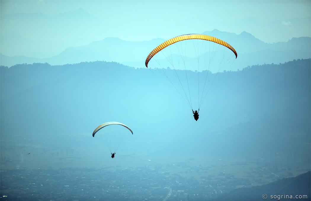 Paragliding the Sky by Sogrina