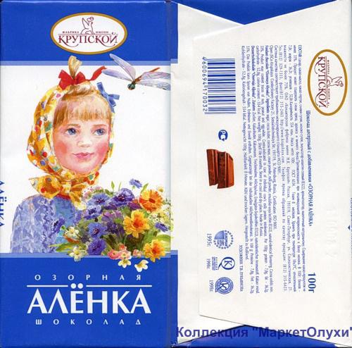 ozornaya шоколад Аленка маркетолухи