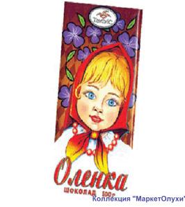 Оленка еще одна  шоколад Аленка маркетолухи