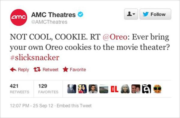 9 самых громких рекламных ошибок 2012 года, адская подборочка AMC Oreo