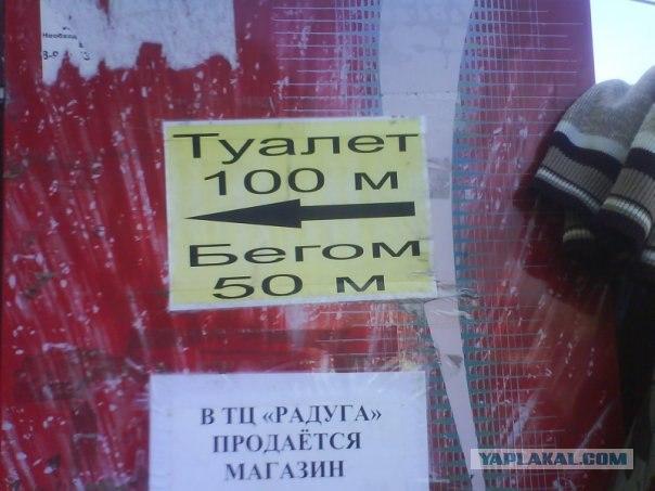объявление туалет бегом ржака