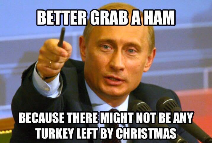 Путин, Турция, индейка.