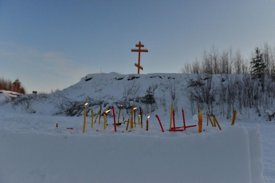 Фото Маркосян Усик, Крещенской Купель, у Креста, на реке Щекурья Саранпауль 5.
