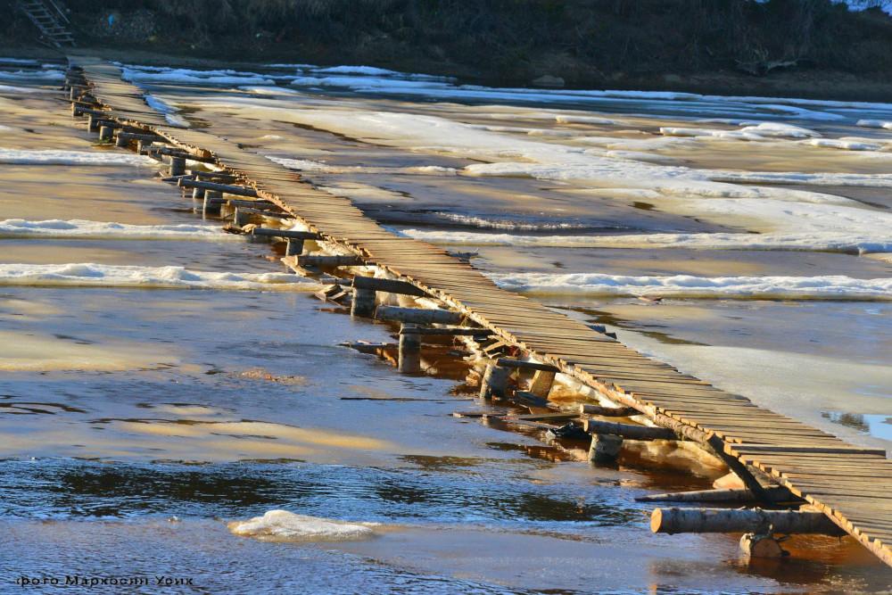 фото Маркосян Усик мост в Саранпауле.,,.