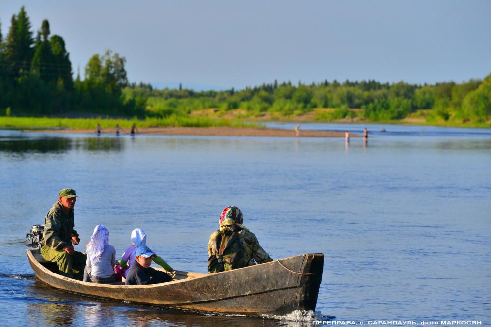 Переправа Саранпауль, река Ятрия-= фото Маркосян Усик