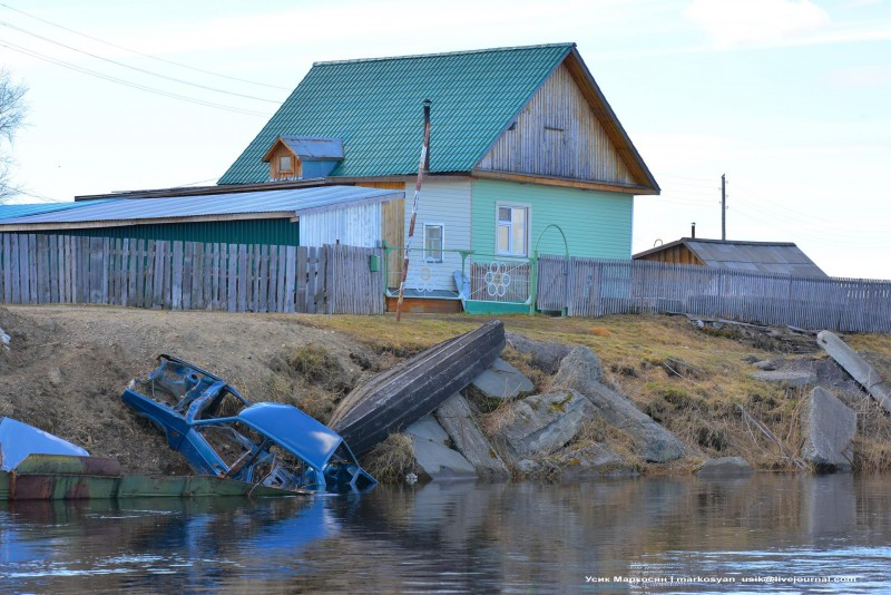 Саранпауль, закрепление берега реки, Маркосян Усик ..