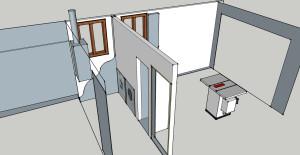 garage with render inside
