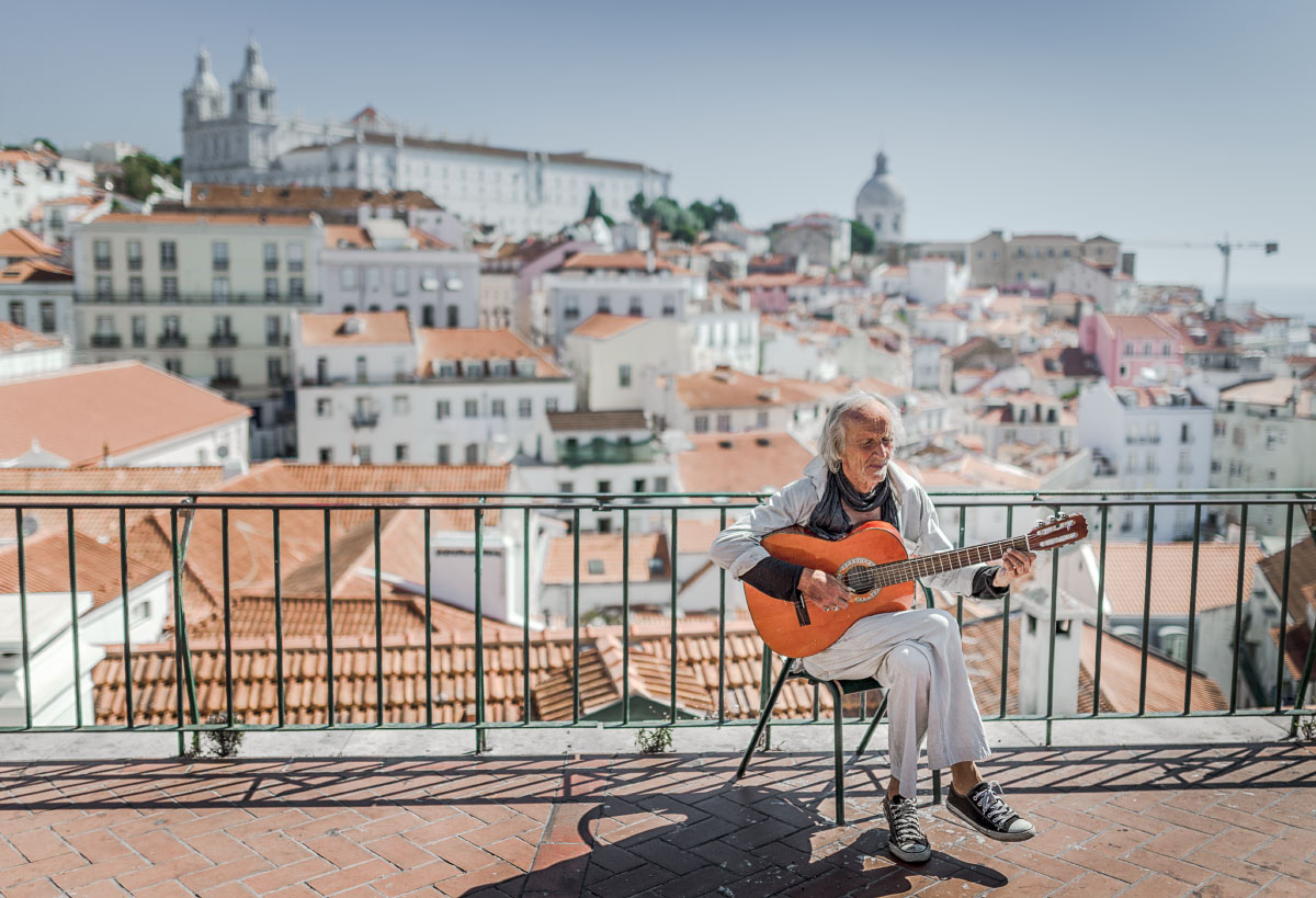 Old man and Lisbon