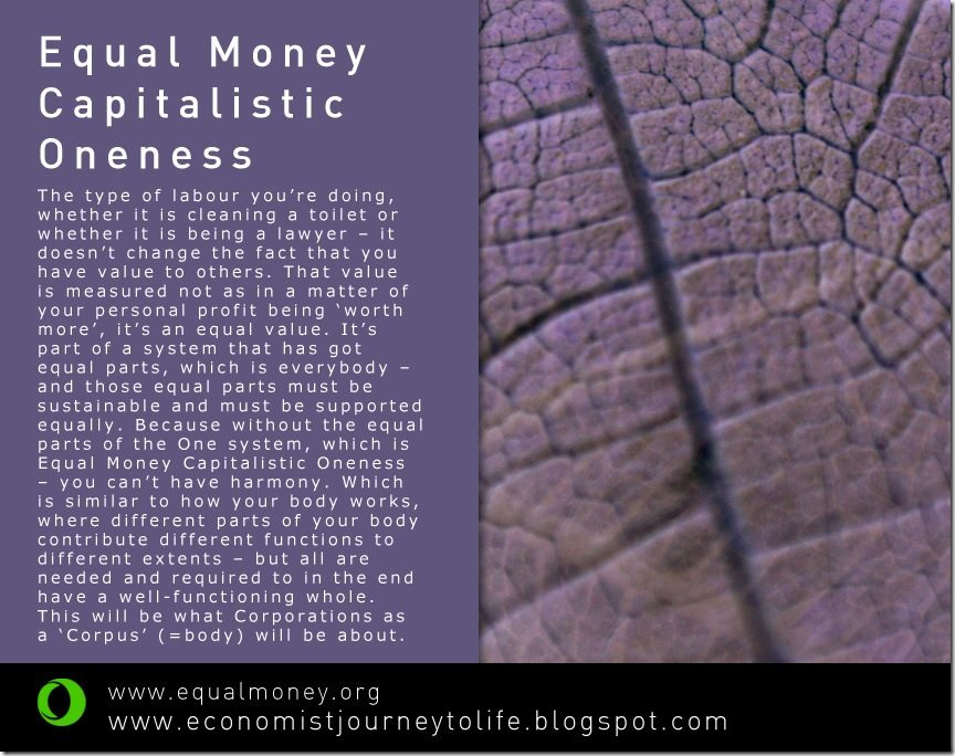 Capitalistic Oneness - Equal Money -Matti Freeman Art