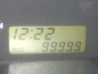 [odometer reading 99999]