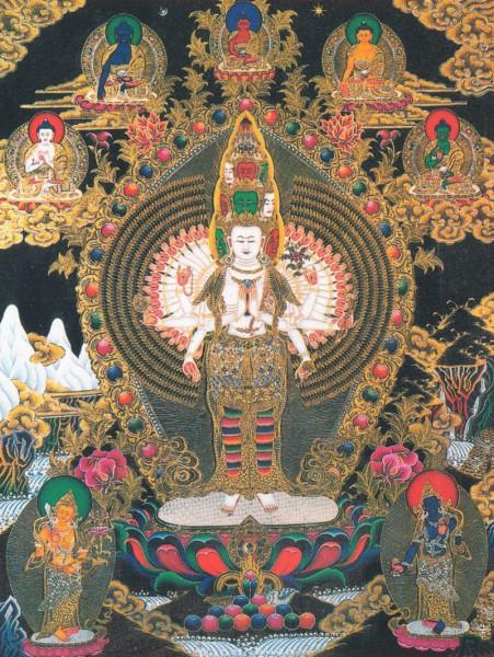 Amitabha buddha statue resin 13 5 cm bemalt