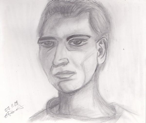 лицо карандаш