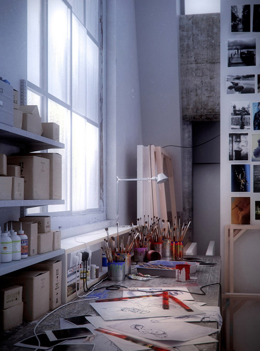 a-look-at-an-artists-studio