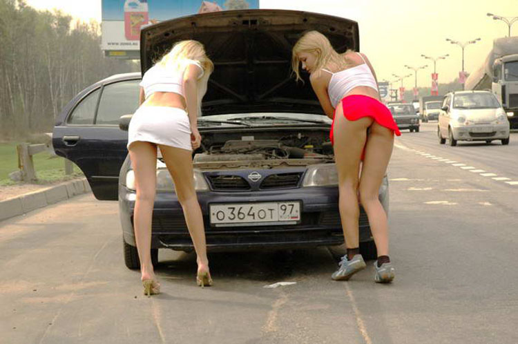 Две в машине блондинки фото 461-34