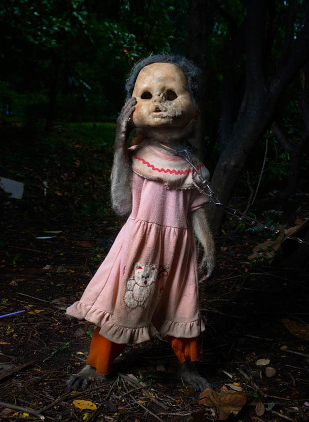 Creepy old fashioned dolls