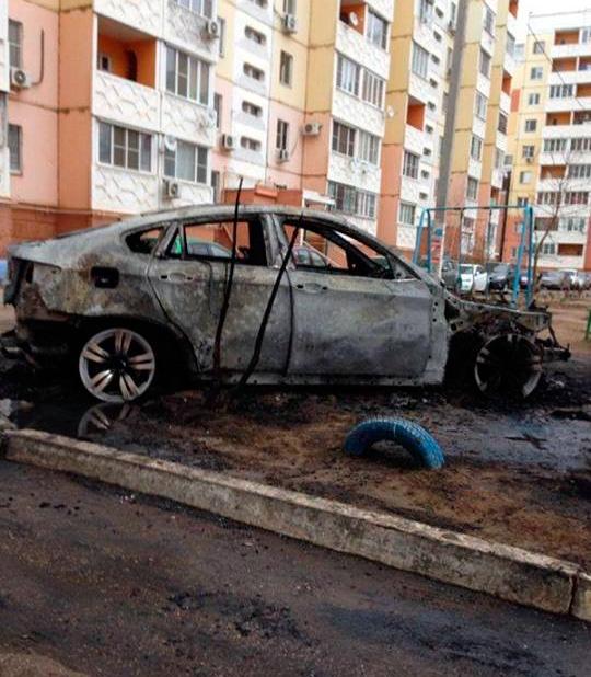 Поджог автомобиля в Астрахани