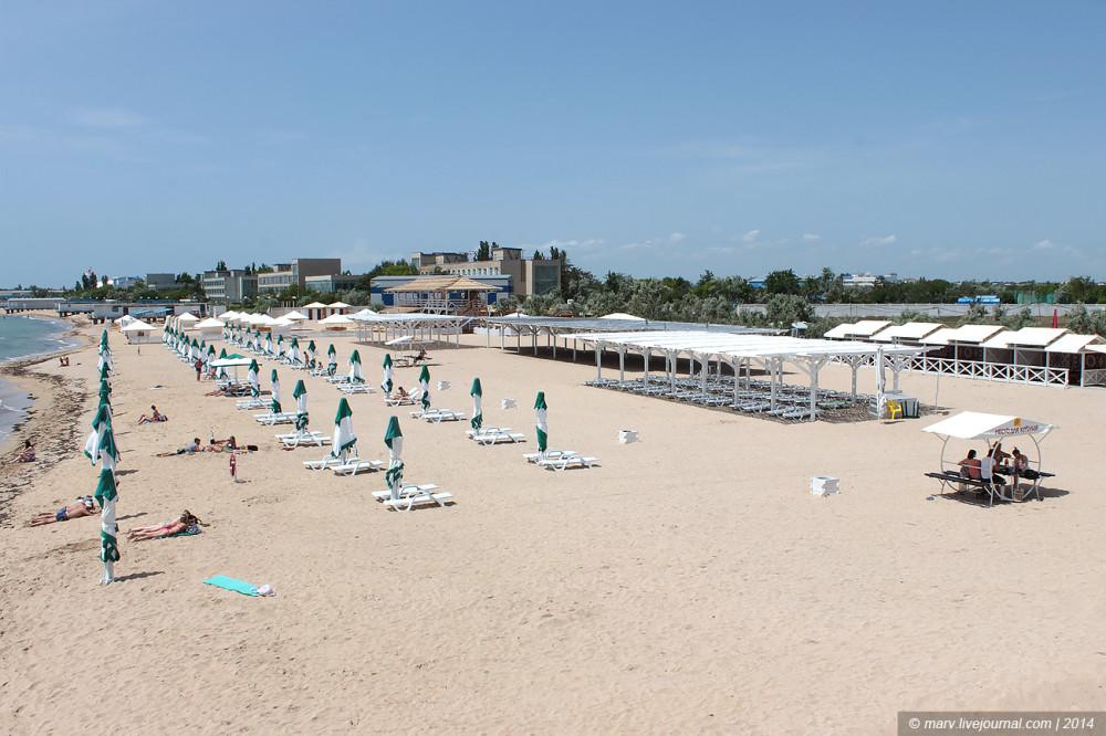 лазурный берег пляж евпатория фото