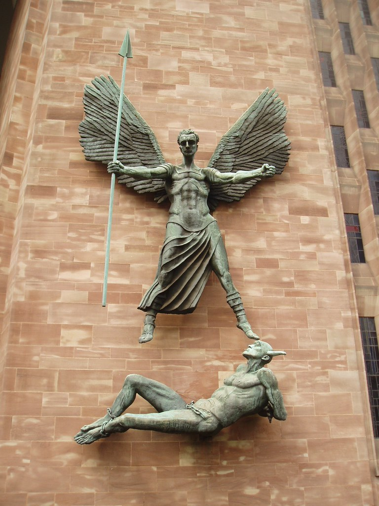 Epstein's Saint Michael the archangel, Coventry Cathedral