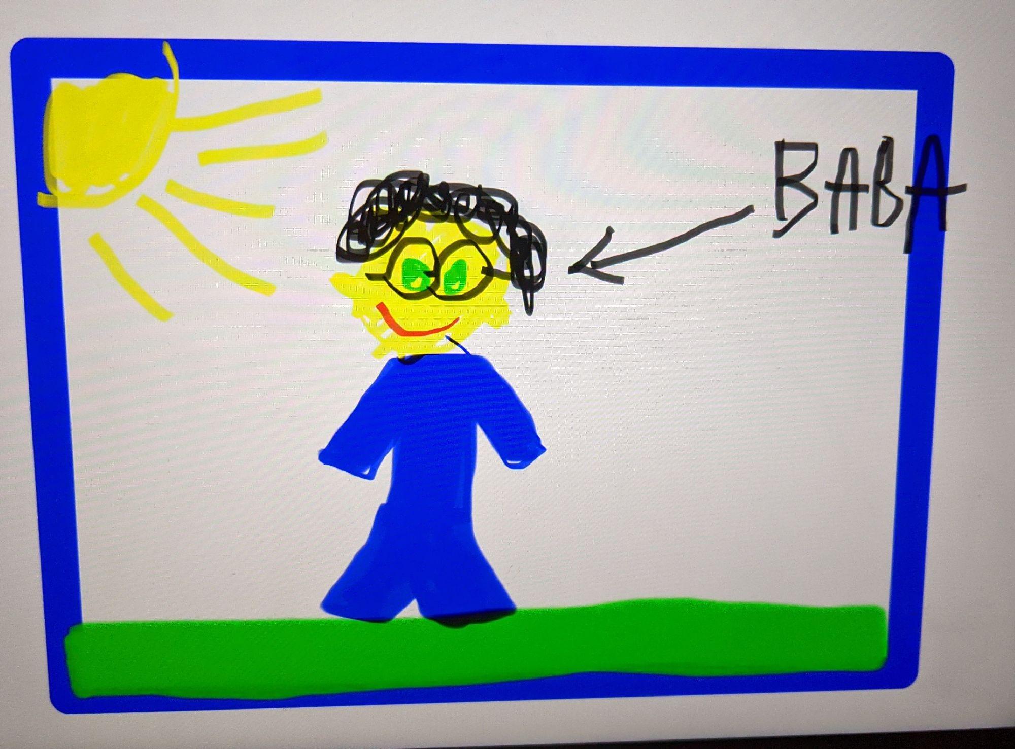 Это мой портрет в исполнении старшей внучки