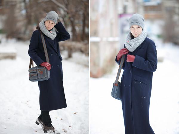 winter look зимний наряд зимний look теплое пальто стильная зима снуд шапка шарф перчатки