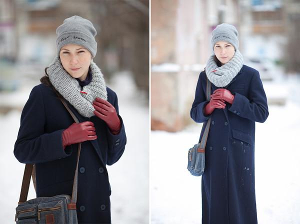 зимний наряд образ с пальто что носить надеть зимой