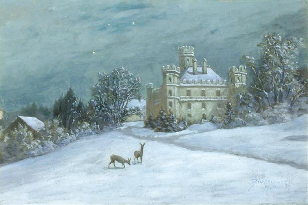 Anton_Zwengauer_Schloss_Berg_im_Winter