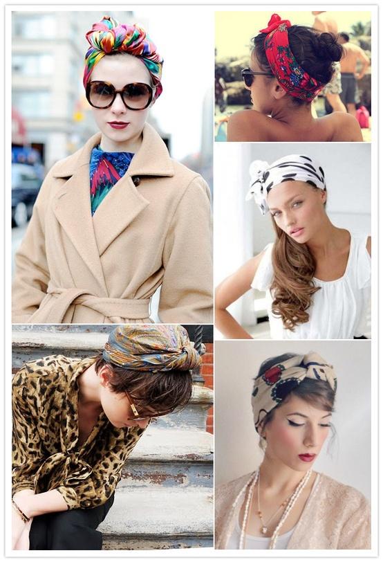 Модный платок на голову своими руками 19