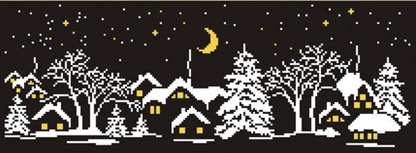 вечірнє зимове село