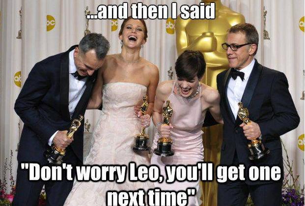И я такая ему говорю - Ну не волнуйся, Лео, получишь в следующий раз. Бугага!!