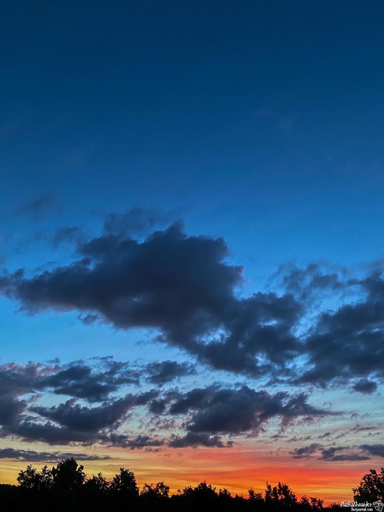 Вечерний ветер и закат