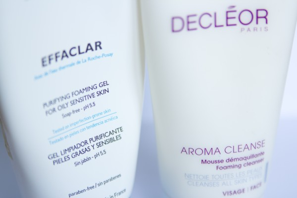 La Roche-Posay Effaclar Purifying Foaming Gel и Decleor Aroma Cleanse Foaming Cleanser