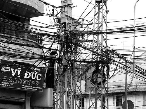 Cables in Ho chi Min Vetnam